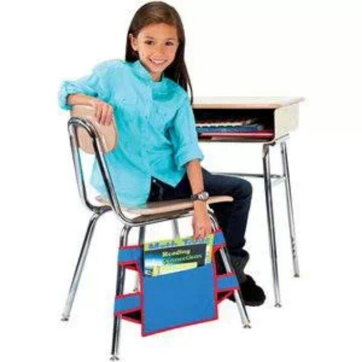 Chair pockets   Chair pockets, Classroom storage, Chair