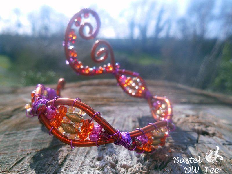 Ahoi ! Anker Armband | Orange pink and Armband