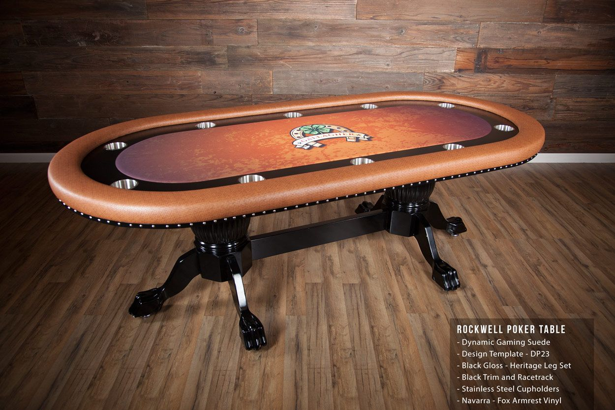 The Rockwell High end furniture poker table with dining top