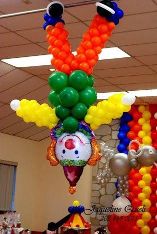 Pin do a lourdes santos em circo pinterest festa com Ornamentacion con globos
