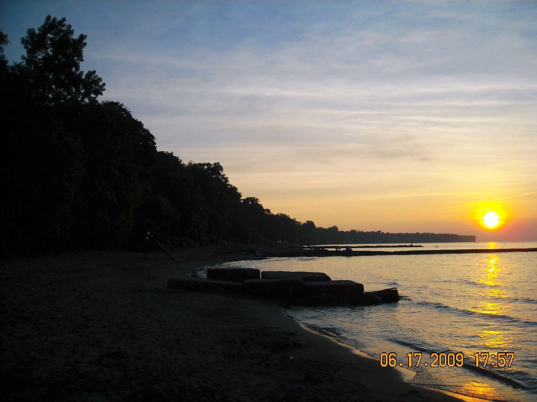Sunset At Huntington Beach Bay Village Ohio Bay Village Rocky River Sunset