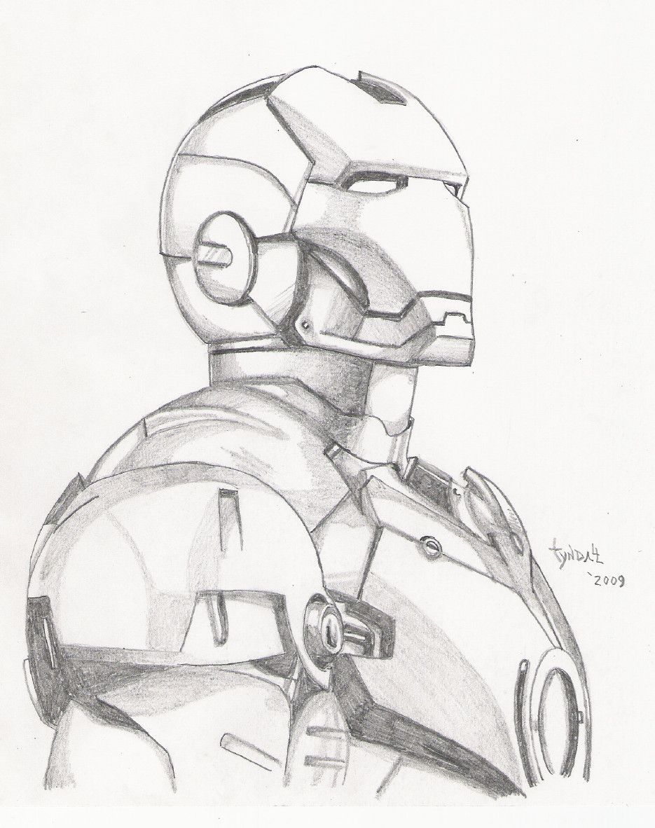 Iron man sketch by tyndallsquest deviantart com on deviantart