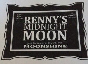 NYE specialty drink - MOONSHINE!