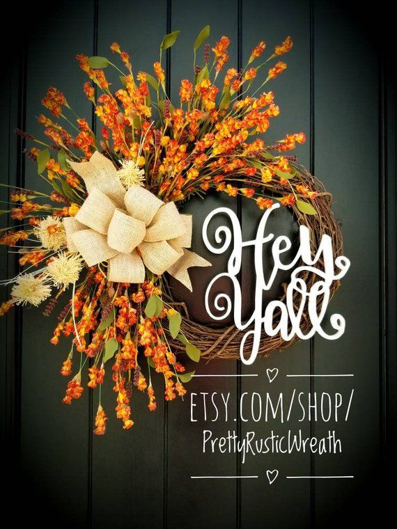 Photo of 14 Incredibly Handcrafted Fall Wreaths You Can Buy From Etsy |