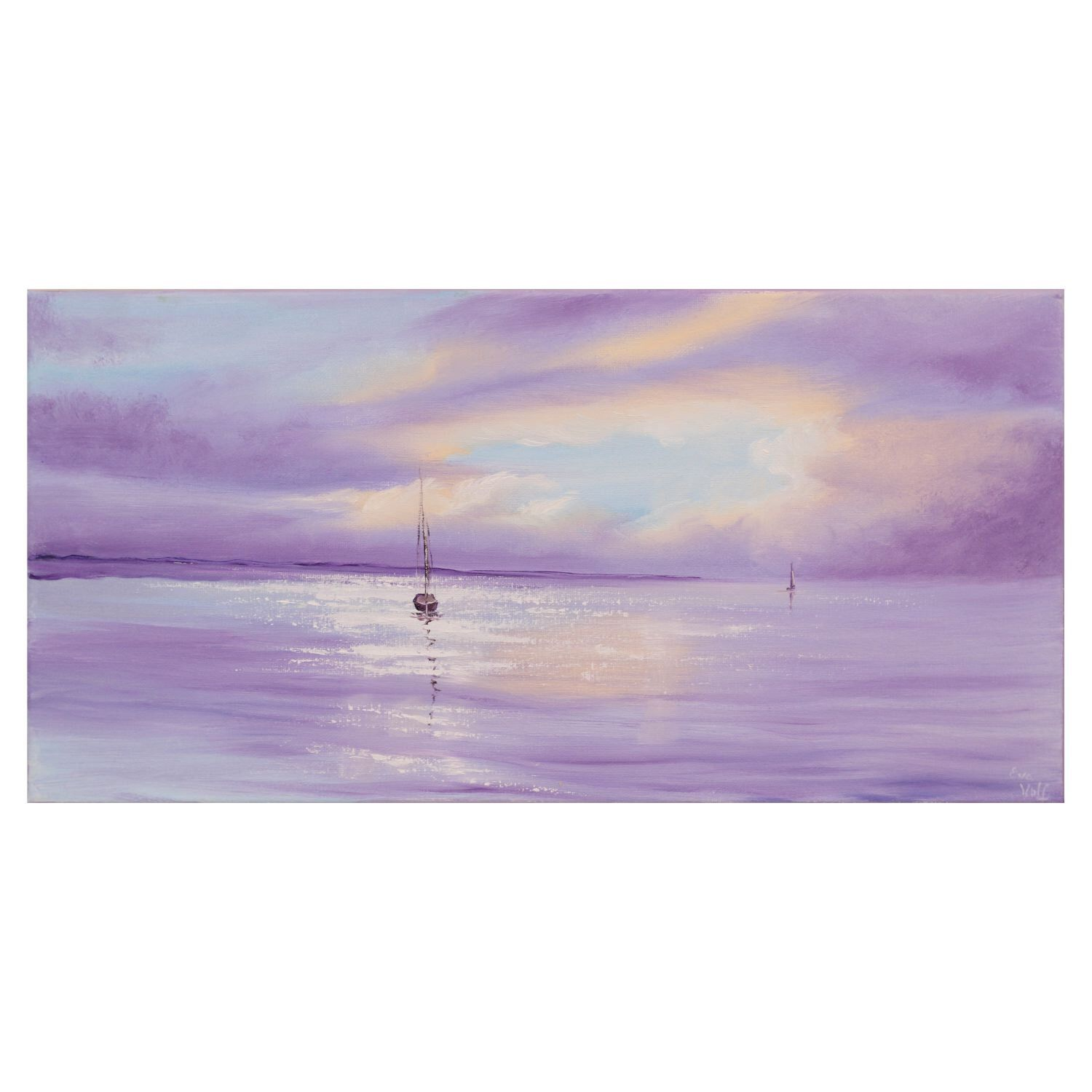 A Personal Favorite From My Etsy Shop Httpswwwetsycomlisting514713511Sailboat Painting Seascape Yacht Art