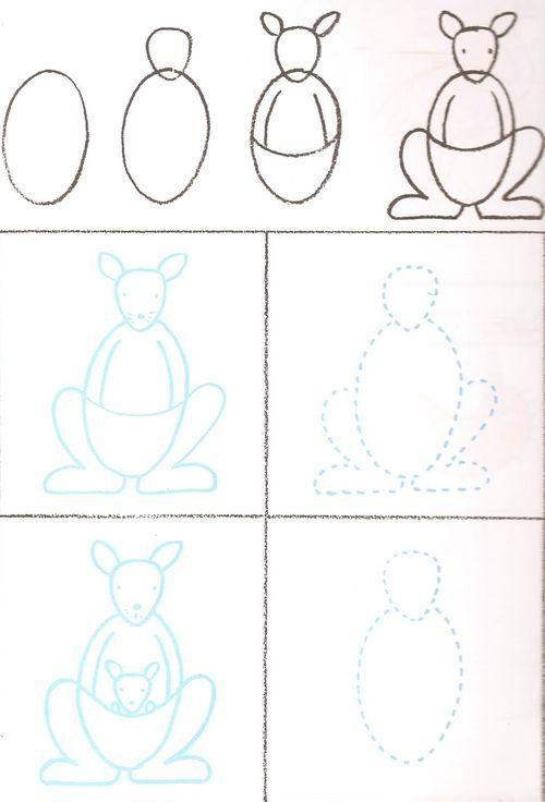 Le kangourou themes kangourou dessin kangourou - Dessiner un kangourou ...