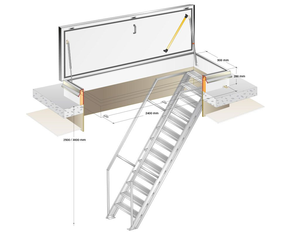 Roof Access Hatch Google Search Loft Stairs Roof Access Hatch Staircase Storage