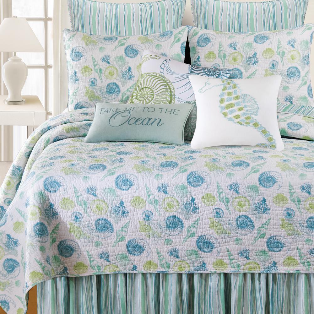 C F Home 3 Piece Blue Full Queen Quilt Set 89962 3fqset The Home Depot Beach House Room Home Decor Beach House Decor