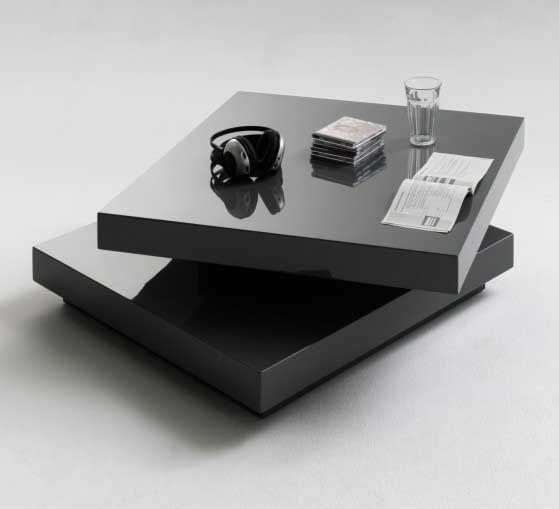 Hugo Square Coffee Table High Gloss Grey With Twist Top Coffee