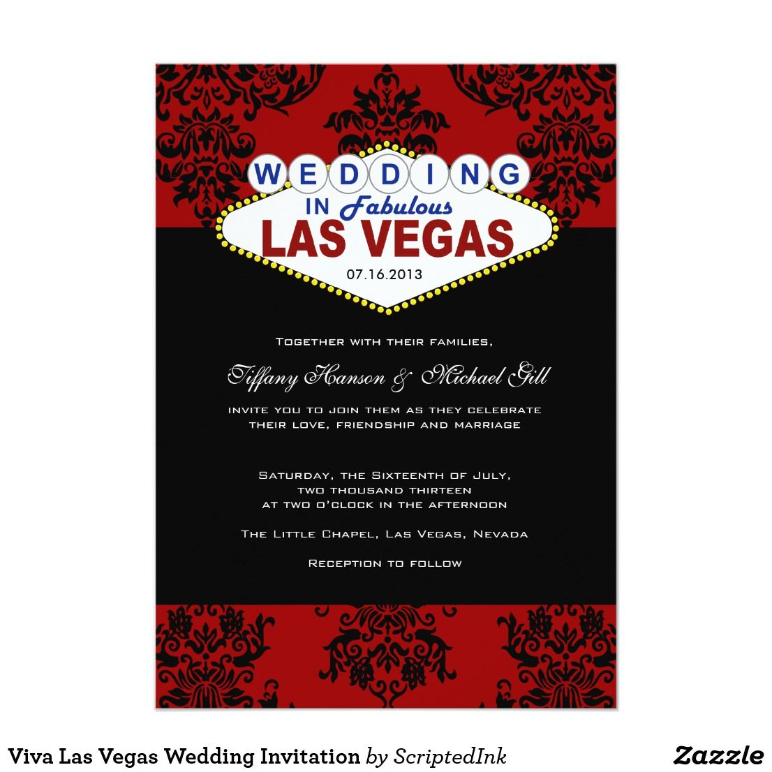 Viva Las Vegas Wedding Invitation | Casino Party | Pinterest | Vegas ...