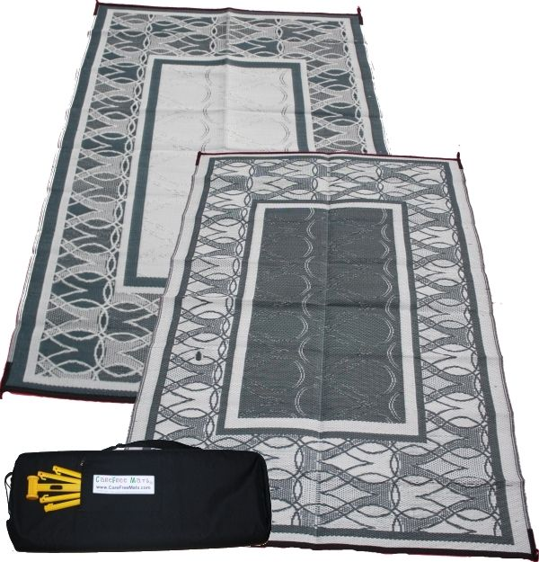 Spring Rain - RV Awning Patio Mat with Free Mallet and ...