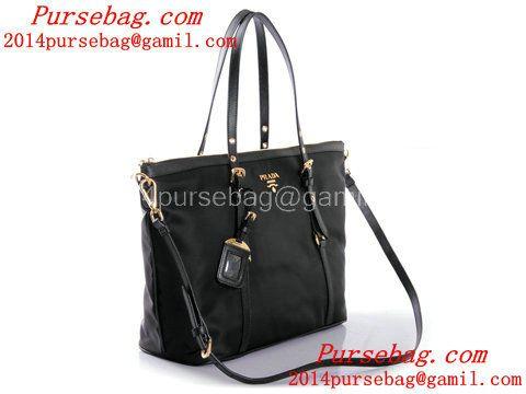 a236539748 Prada Tessuto Nylon Large Shopping Tote Bag BR4253 Black Discount Designer  Bags
