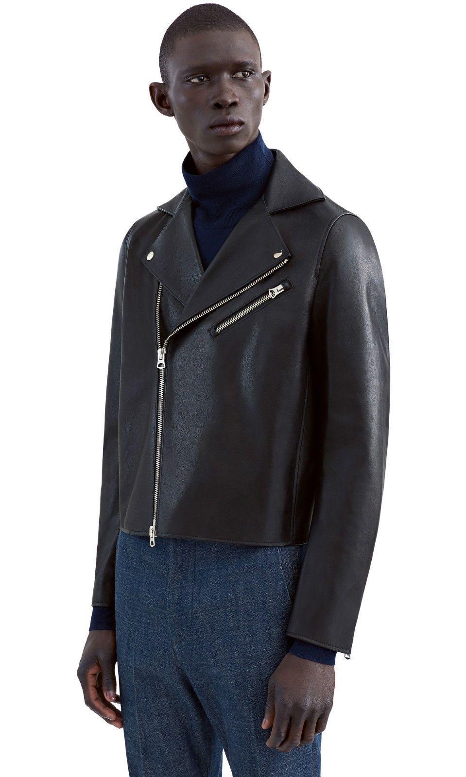 Acne Studios Gibson Black Leather Jacket Sz50 New w tags   Care bag Free  P P   eBay b65db39df9c