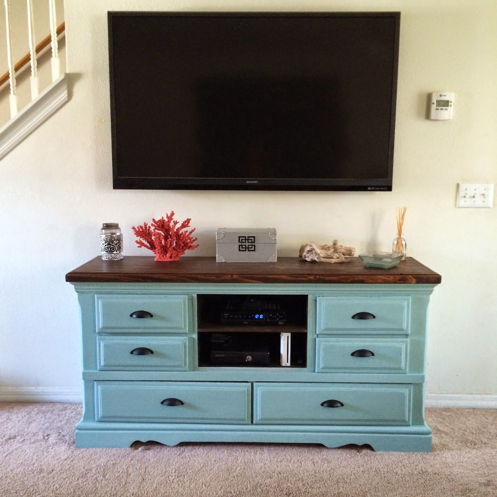 repurposed old dresser into a entertainment center  pallet tv  - cult nails blog furniture diy  from trash found dresser to treasured entertainmentcenter