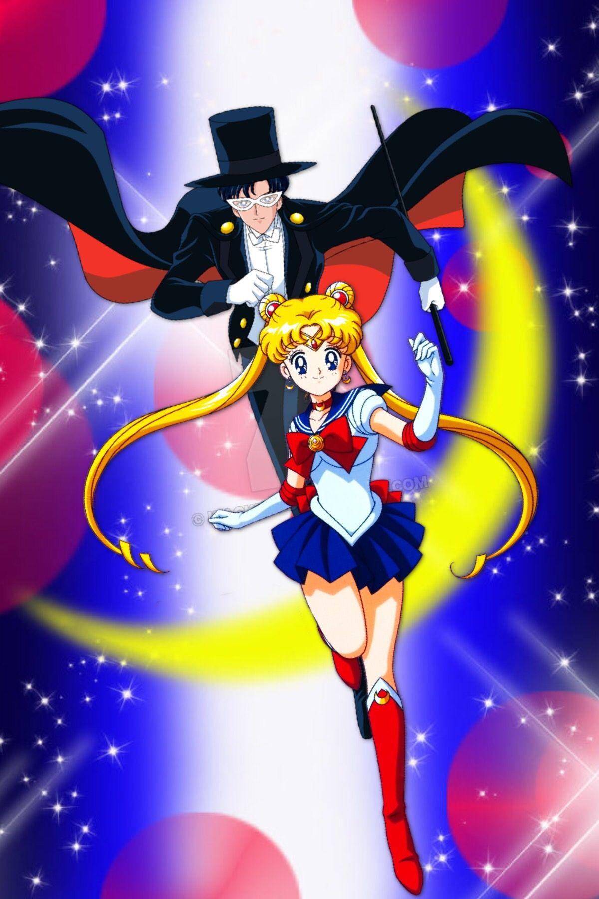Salior Moon Serena Y Tuxedo Mask Darien Animes