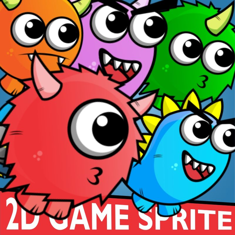 Enemy Monster Pack 2D Game Character Sprite | Game Character