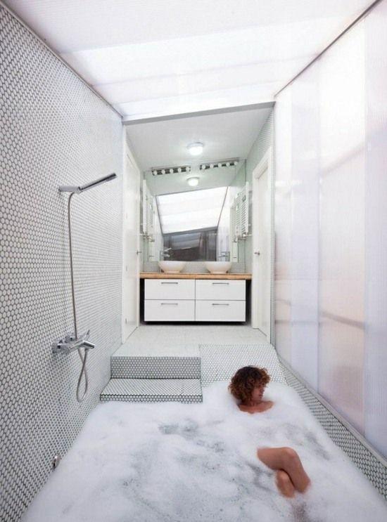 Das nenn ich mal Badewanne! Wohnideen Traumbad weiß grau - badezimmer weiß grau