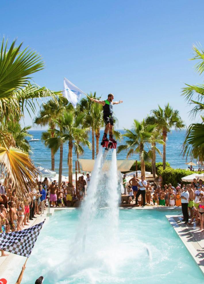 FlyBoard Show in Nikki Beach Marbella