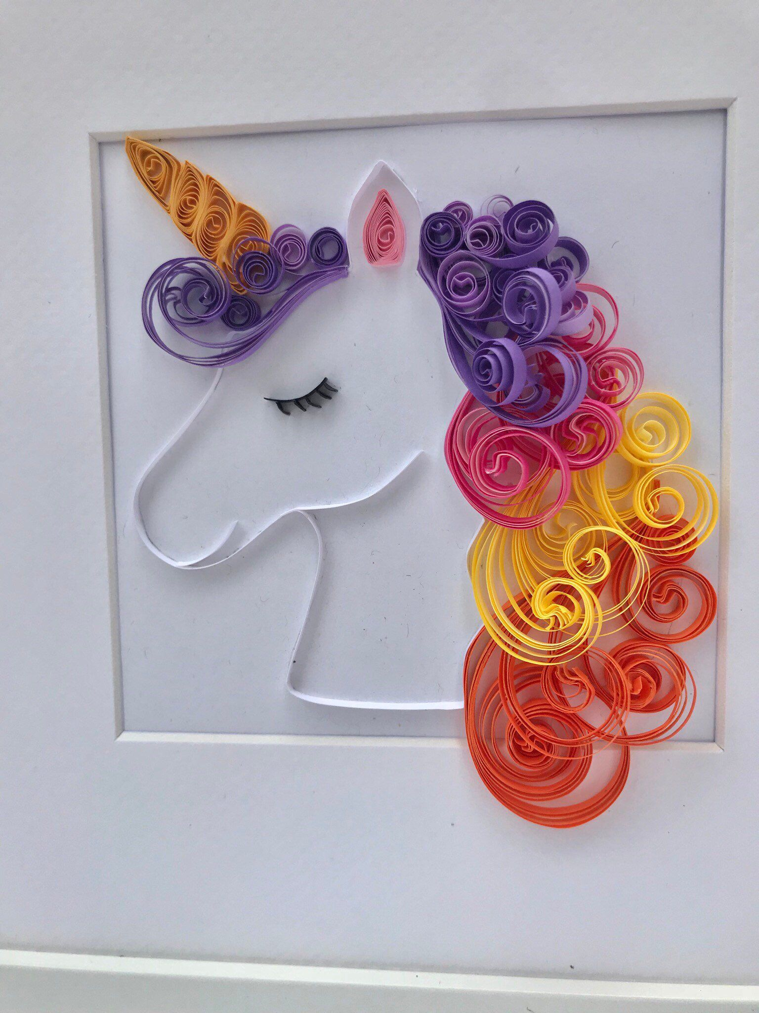 Photo of Unicorn wall frame/name frame/nursery decor/paper quilling artwor