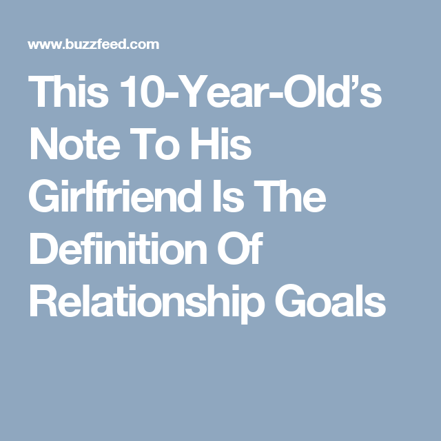 This 10-Year-Old's Note To His Girlfriend Is The Definition Of Relationship Goals