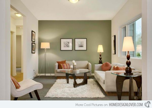 Merveilleux 15 Contemporary Grey And Green Living Room Designs | Home Design Lover