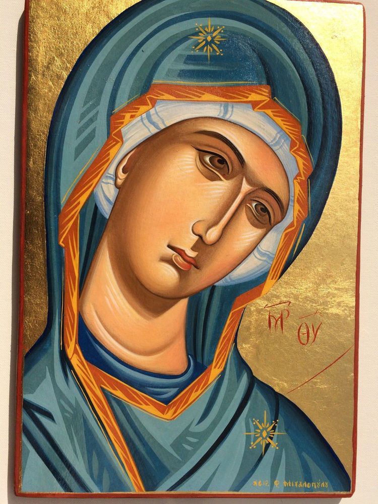 Panagia-Mother of God- handpainted Greek Christian Orthodox byzantine icon   Byzantine icons, Greek icons, Orthodox icons