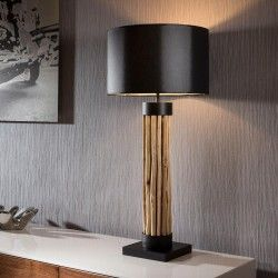 driftwood lighting. beautiful tall modern designer driftwood table lamplight black shade lighting