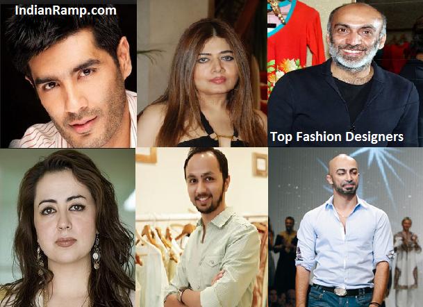 Top Famous Fashion Designers List India Pakistan Indianramp Com Fashion Designers Famous Famous Fashion Fashion Designer List