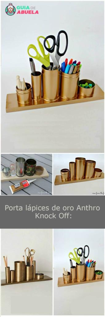 Photo of Porta lápices de oro Anthro Knock Off: