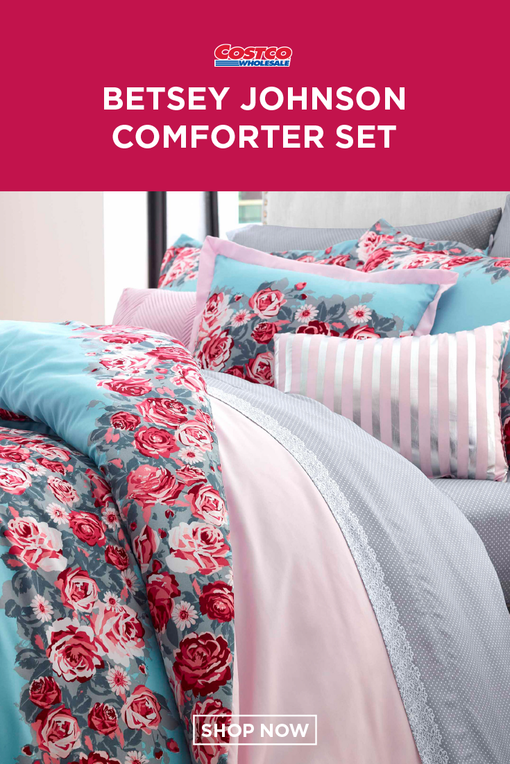 Betsey Johnson 6 Piece Comforter Set Banded Floral Comforter Sets Comforters Bedding Sets