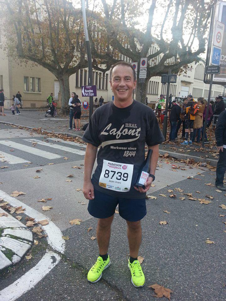 Même nos tee-shirts Stone étaient dans la course ce week-end lors du marathon international du Beaujolais ! #MIB2014 #workwear #lafontvêtements #onaimelafont