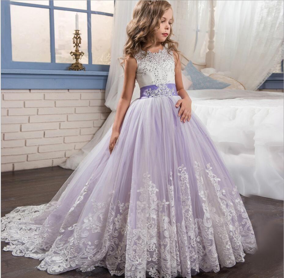 new style princess baby girls toddler lace tutu communion dress