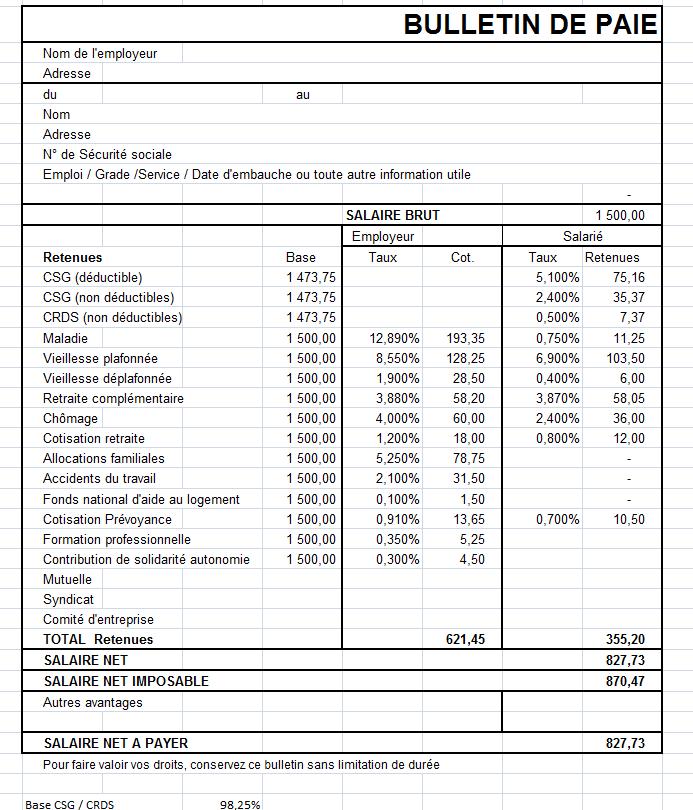 modele bulletin de salaire nounou 2018