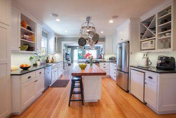 Kitchen Island Kegerator kitchen- long skinny island, bar stools. beer/wine counter and