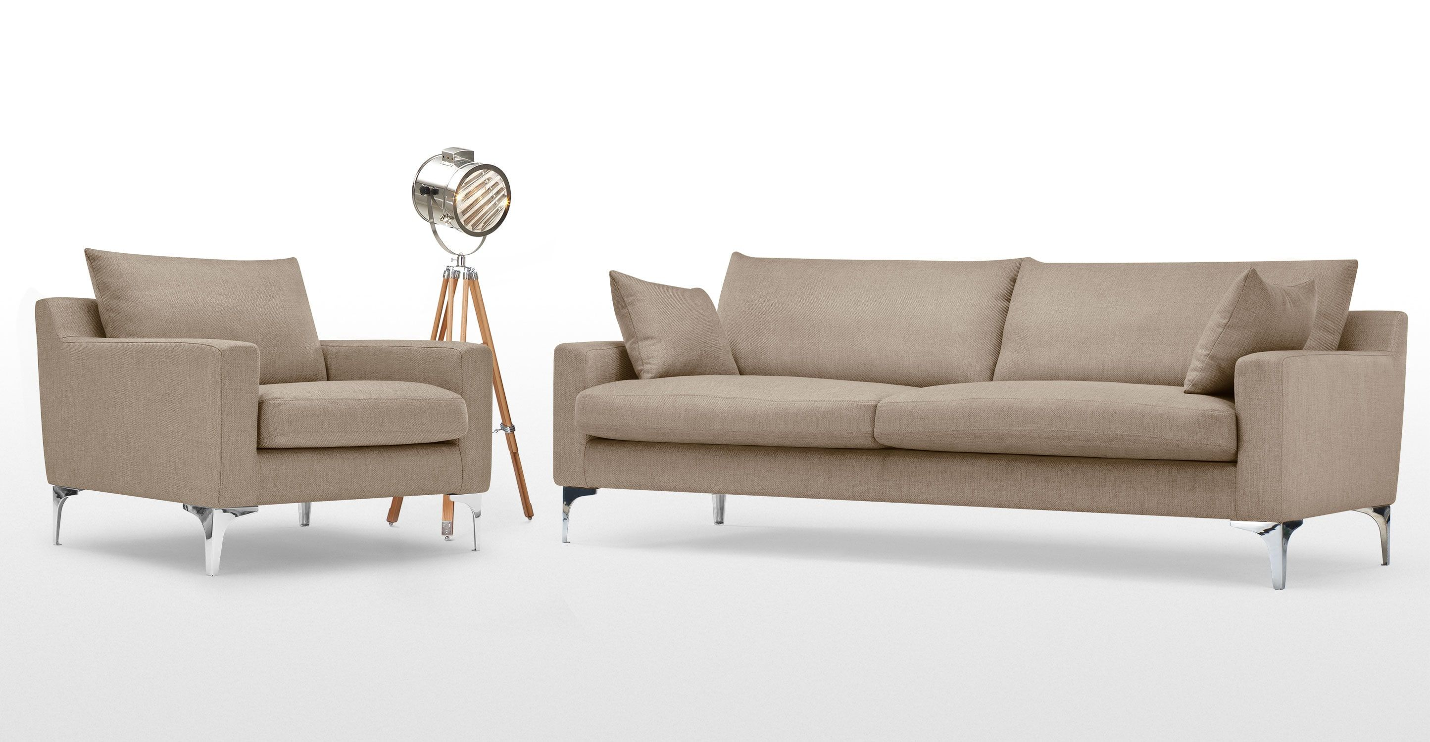 Mendini 3 Seater Sofa, Soft Taupe From Made.com. Neutral. With An  Irresistibly Inviting Shape, The Contemporary Mendini Is The Perfect Place  To Esca.