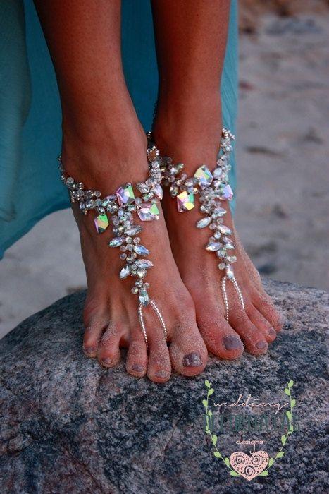 Beach Wedding Barefoot Sandal,Bridal