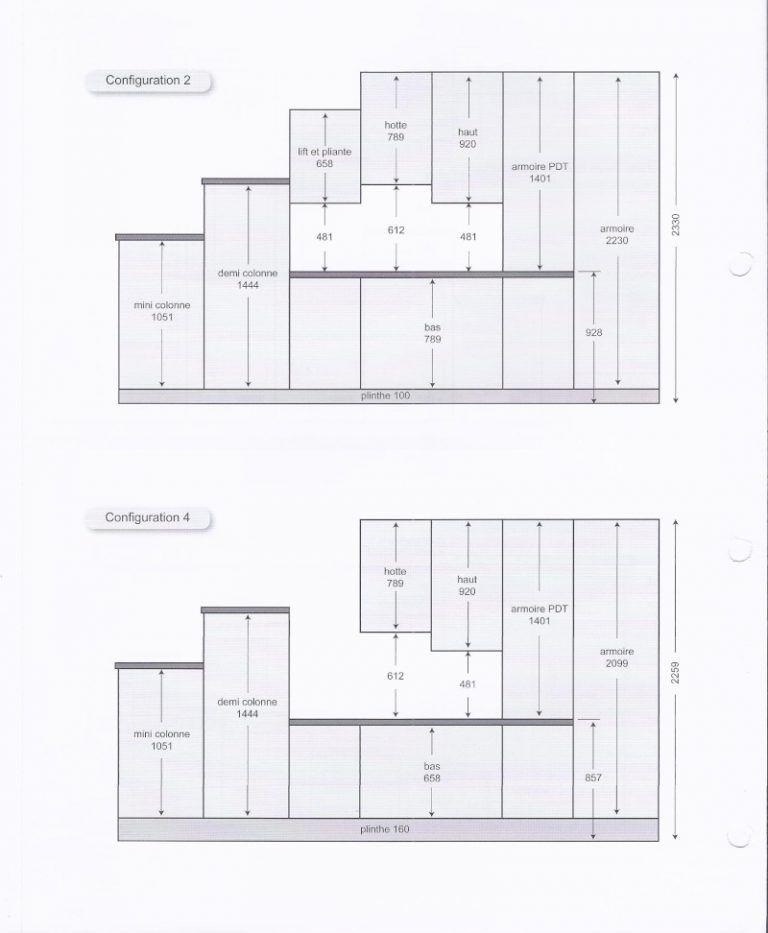 dimension standard meuble de cuisine