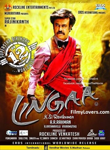 Lingaa Film (Hindi Language) 1st Day Box Office Collections