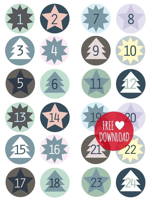 DIY – Des étiquettes bleues pour le calendrier de l'avent #calendrierdelavent