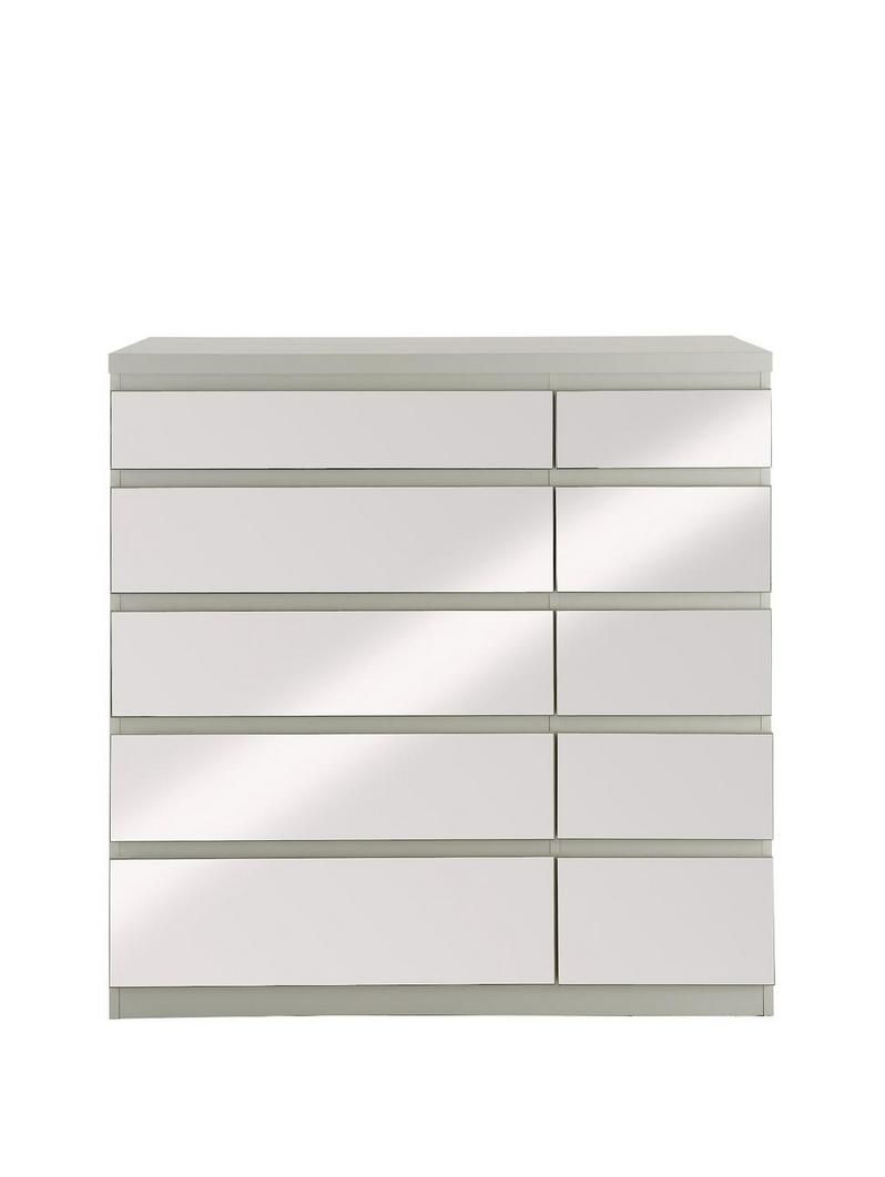 Bought Prague   Chest Of Drawers In Black Or White With Mirrored Drawer Fronts