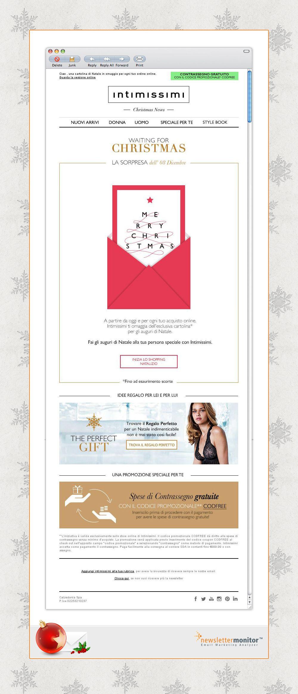 Biglietti Di Natale Email.Brand Intimissimi Subject Fai Gli Auguri A Una Persona Speciale