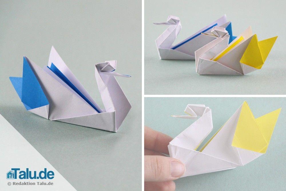 Photo of Origami Schwan aus Papier falten – Faltanleitung – Talu.de