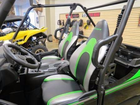 "New 2017 Kawasaki Teryx ATVs For Sale in West Virginia. <p style=""margin-bottom: 1em;"">The sporty Teryxâ""¢ takes the combination of sport performance and essential utility to unprecedented levels.</p><ul><li>783 cc V-twin engine with strong mid-range power delivery</li><li>Continuously Variable Transmission (CVT) with confidence-inspiring engine braking performance under certain conditions</li><li>Durable and light weight ""Double-X"" frame construction</li><li>Tilt steering, Electric…"
