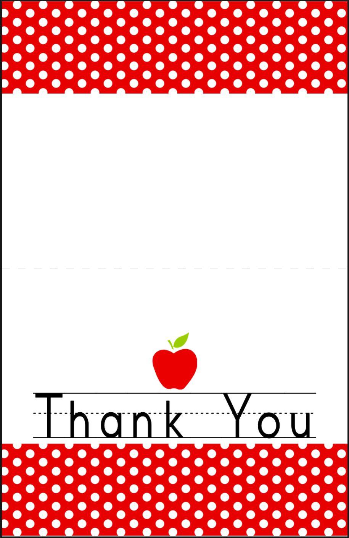teacher thank you card template