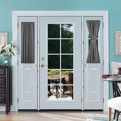 Deconovo Rod Pocket Curtains Blackout Curtains For French Doors