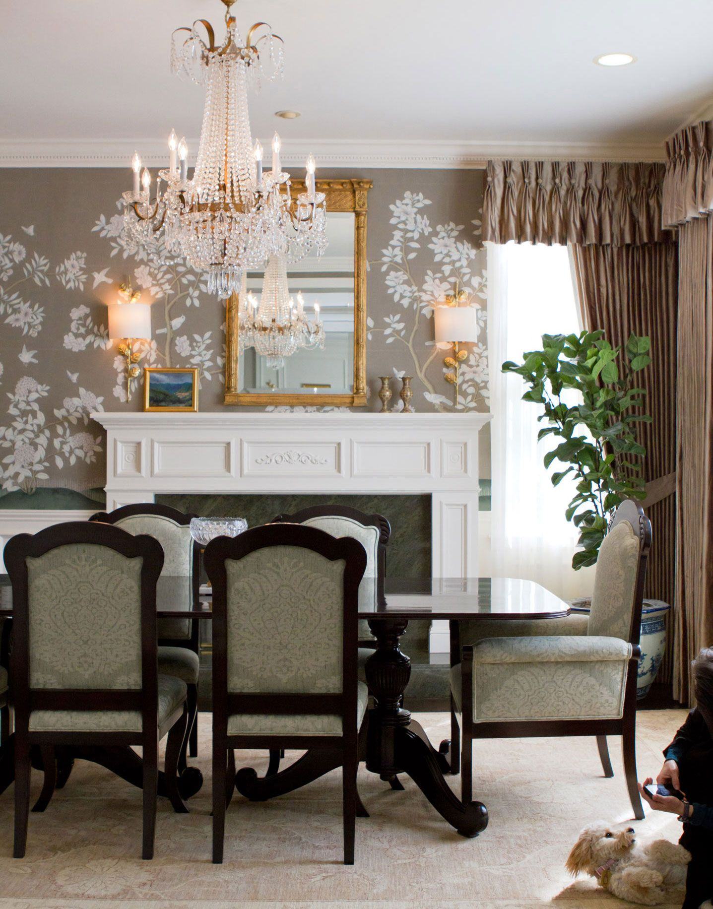 British colonial dining room decor with empire style crystal british colonial dining room decor with empire style crystal chandelier mozeypictures Choice Image