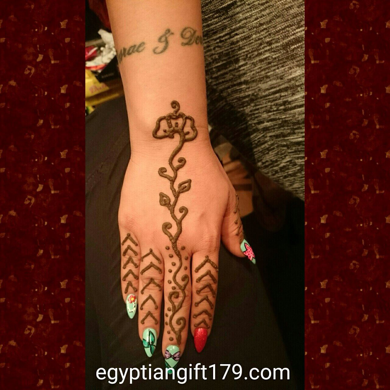 Egyptian gift corner henna shop henna kit tattoos