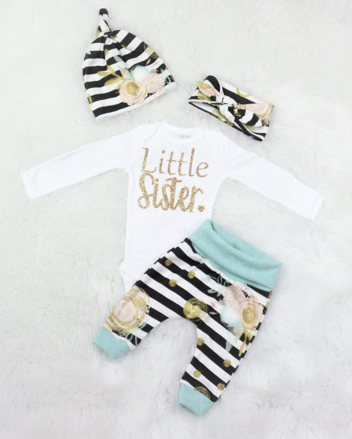 d50ea6fed coming home outfit/baby girl/Little sister/little sister coming home outfit  by bibitibobitiboutique on Etsy