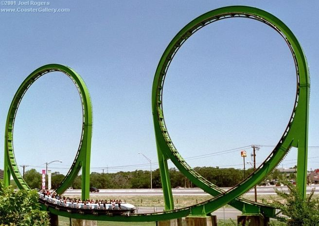 Shock Wave Six Flags Over Texas Roller Coaster Six Flags Over Texas Amusement Park Rides