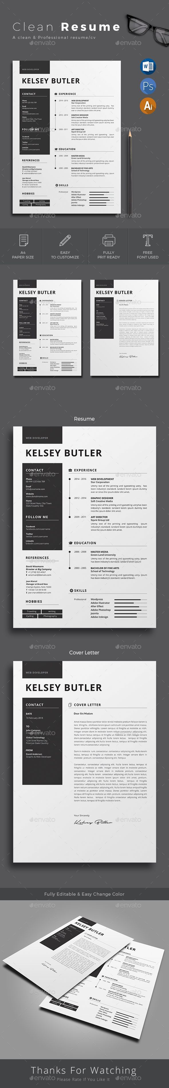 Resume - #Resumes Stationery Download here: https://graphicriver.net ...